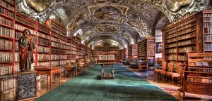 Prague Monastery library courtesy of Pixabay