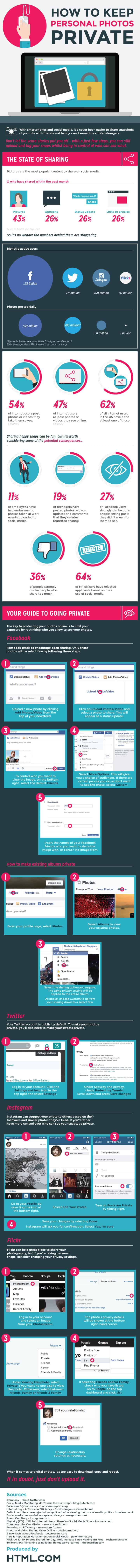 How to keep personal photos private infographic