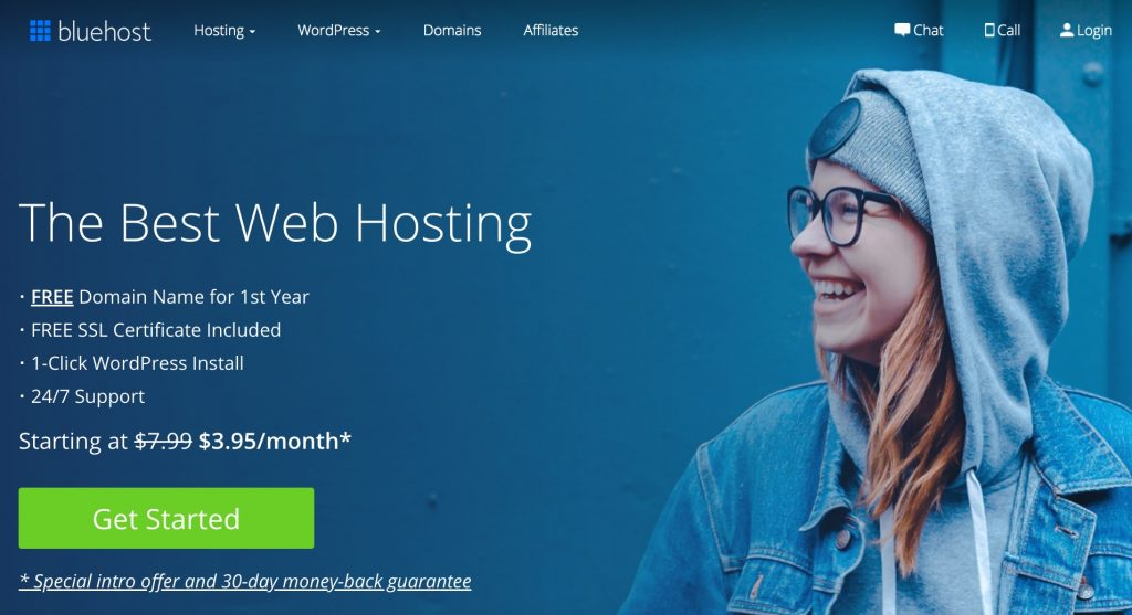 Bluehost's website