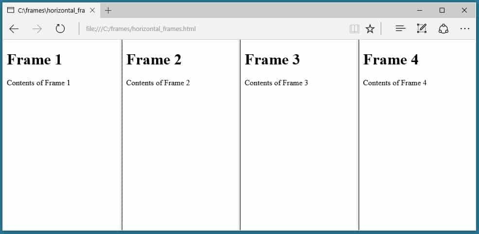 How To Use Frame Tags In Html