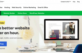 GoDaddy Website Builder Page Screenshot