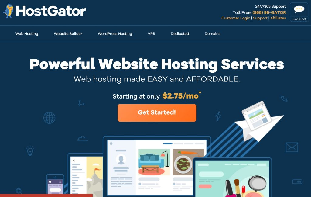HostGator's website