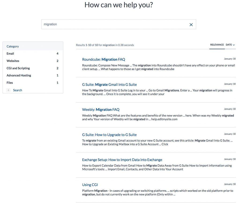 Netfirms support portal