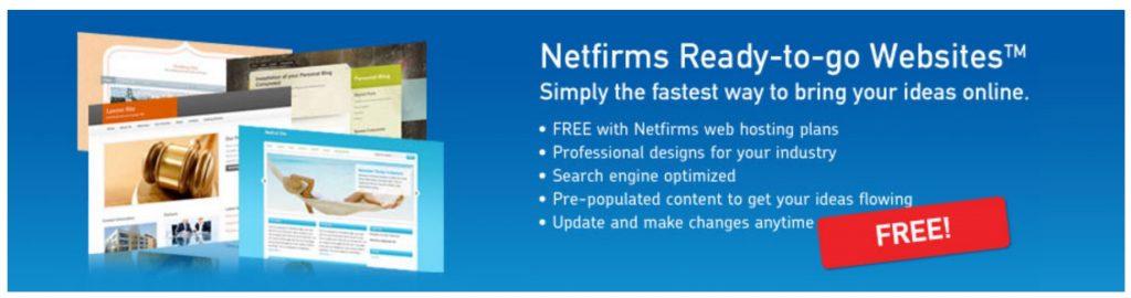 Netfirms Ready-To-Go website builder
