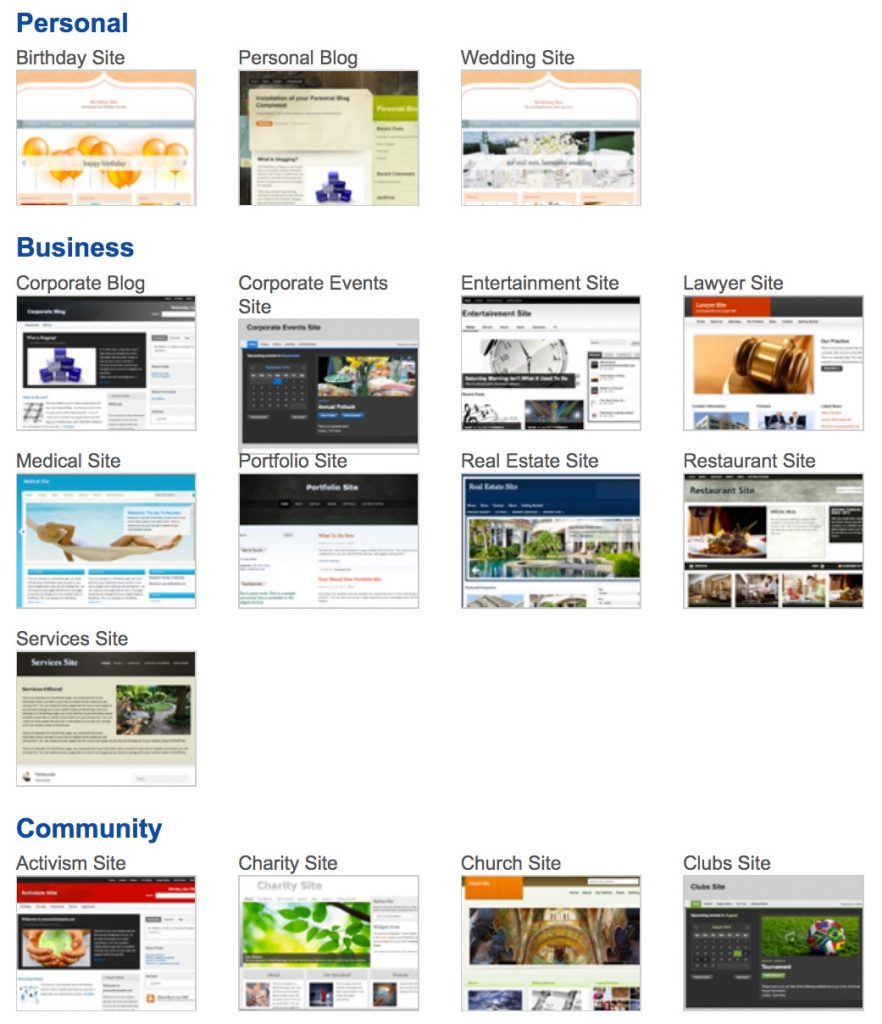 Templates for Netfirms Ready-to-Go website builder