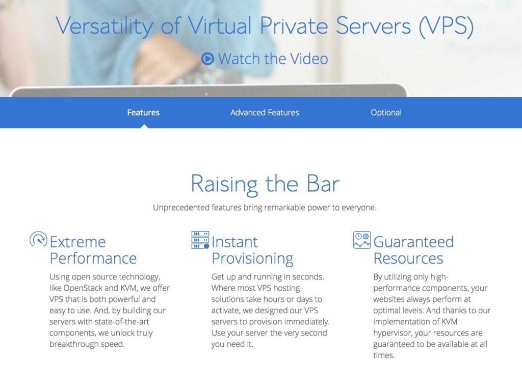 Bluehost's VPS plans include instant provisioning
