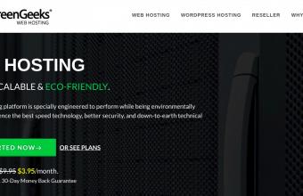 Screenshot of GreenGeeks Hosting