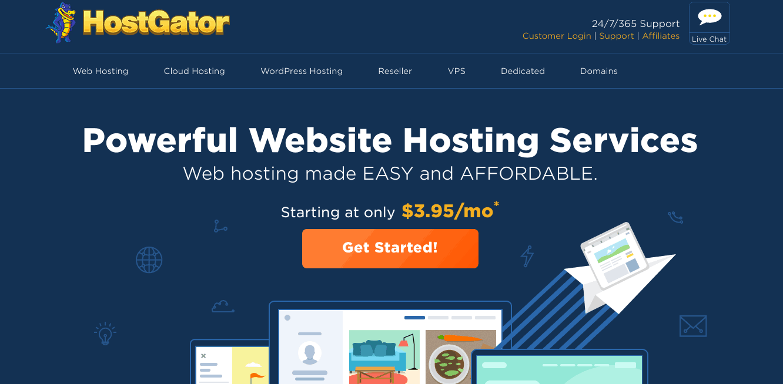 HostGator es uno de los proveedores de servicios de alojamiento web más grandes del mundo.
