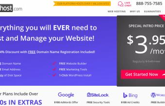 justhost homepage