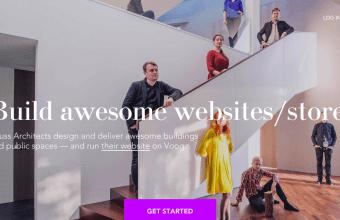 Voog Homepage Screenshot