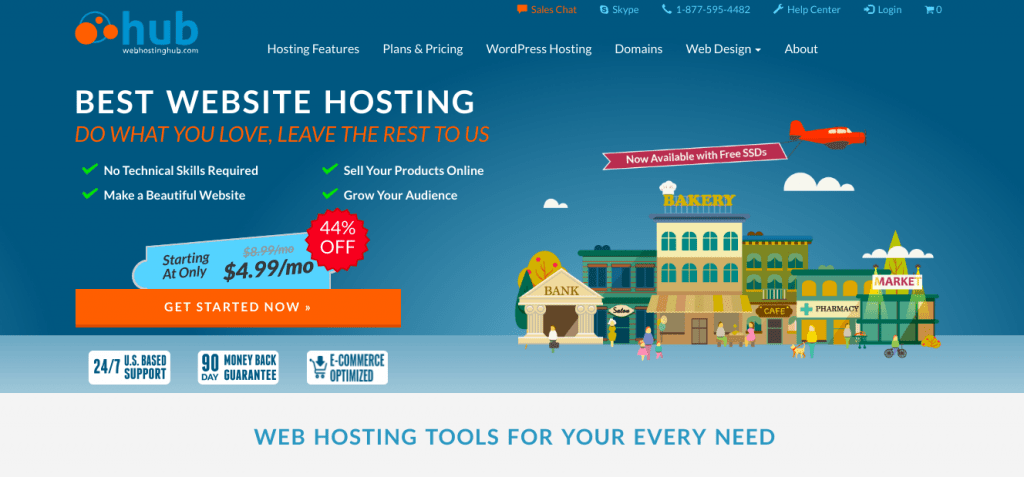 WebHostingHub homepage screenshot