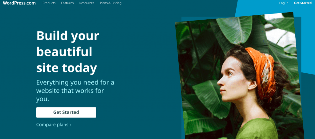 WordPress.com Homepage Screenshot