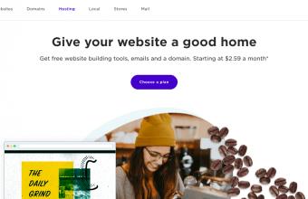 Yahoo hosting homepage screenshot