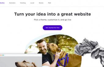 Yahoo Website Builder page screenshot