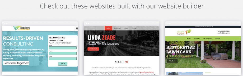 Web.com DIY website builder themes