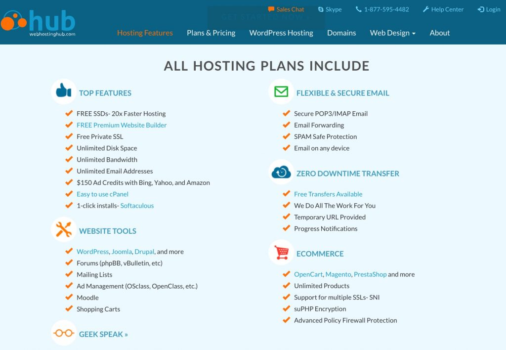 Web Hosting Hub's hosting features