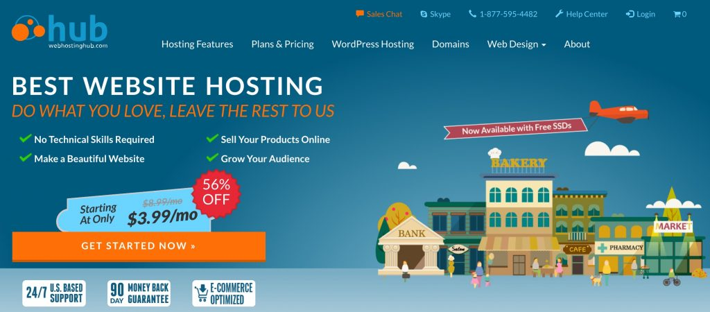 Web Hosting Hub's website